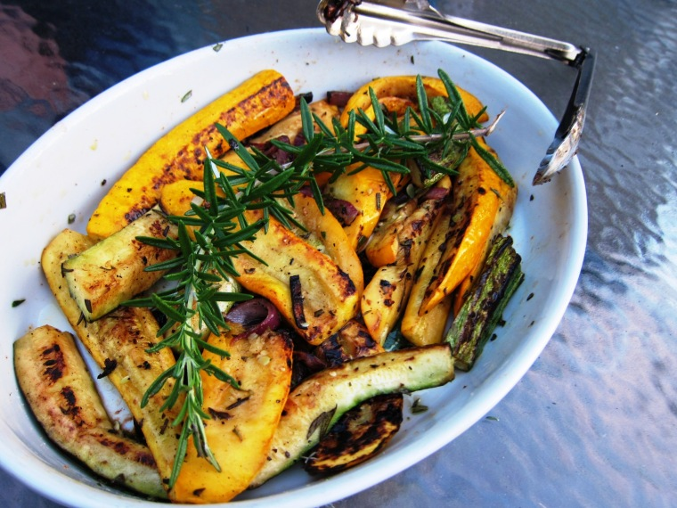 Perfectly simple grilled squash