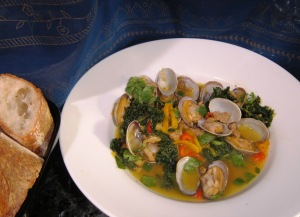 clams with bread